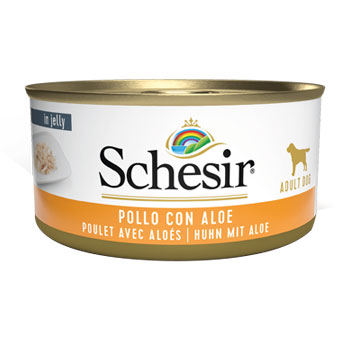 SCHESIR DOG POLLO/ALOE 150GR