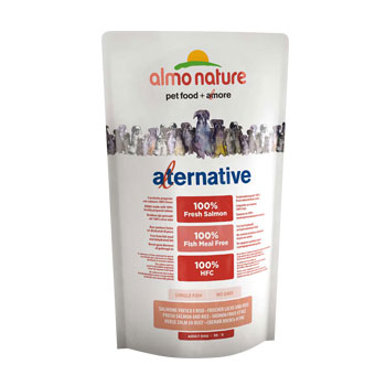 ALMO NATURE ALTERNATIVE DOG DRY XS-S SALMONE 750 GR