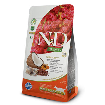 N&D CAT QUINOA AD.SKIN ARINGA  300GR