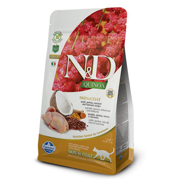 N&D CAT QUINOA AD.SKIN QUAGLIA 300GR