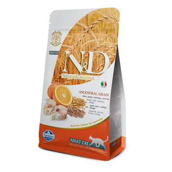 N&D ANC CAT ADULT MERLUZZO  300GR