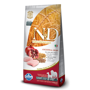 N&D ANC DOG LIGHT MINI/MEDIO  2,5KG POLLO E MELOGRANO