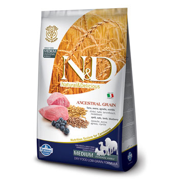 N&D ANC DOG ADULT MEDIO  12KG AGNELLO E MIRTILLO
