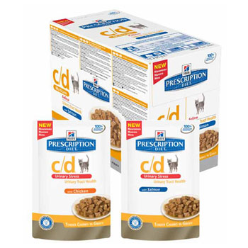 HILL'S CAT DIET C/D BST STRESS POLLO 85 GR