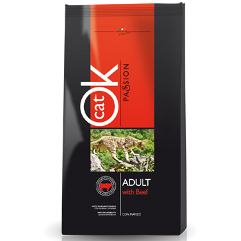 OK CAT PASSION ADULT MANZO 12,5KG