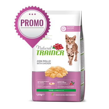 NATURAL TRAINER CAT YOUNG CON POLLO FRESCO 1,5 KG