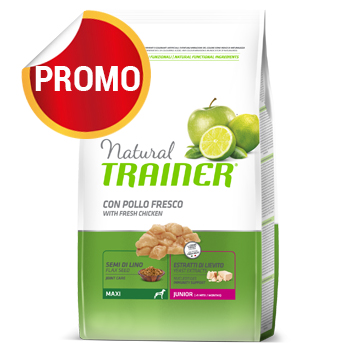 NATURAL TRAINER MAXI JUNIOR CON POLLO 12 KG