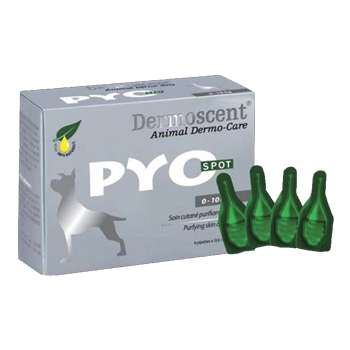 DERMOSCENT PYO SPOT FOR DOGS 0-10 KG - 4 pipette 0,6 ml