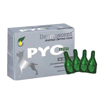 DERMOSCENT PYO SPOT FOR DOGS 10-20 KG - 4 pipette 1,2 ml