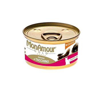 MONAMOUR CAT GOLD MOUSSE 85 gr Tacchino
