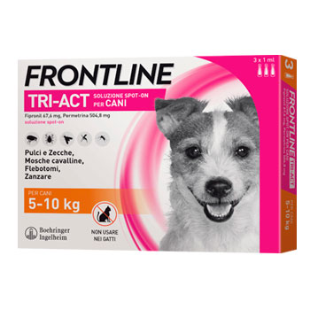 FRONTLINE TRI-ACT - 3 PIPETTE CANI SMALL 5 - 10 KG