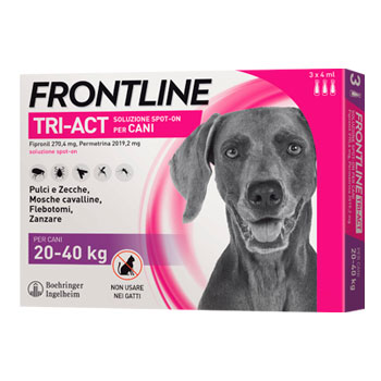 FRONTLINE TRI-ACT - 3 PIPETTE CANI LARGE 20 - 40 KG