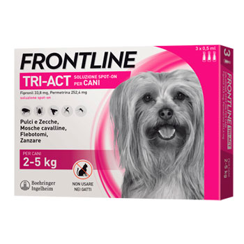 FRONTLINE TRI-ACT -  3 PIPETTE CANI XS 2 - 5 KG