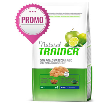 NATURAL TRAINER MAXI POLLO E RISO 12 KG